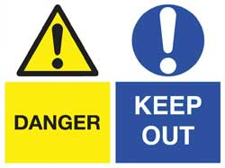 Danger/Keep Out Signs